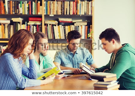 group of students reading books stock photo © get4net