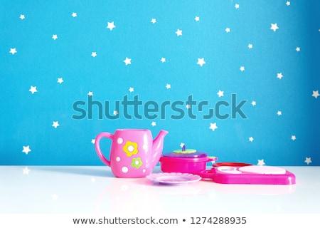 Bulaşık oyuncaklar tablo farklı marka yeni Stok fotoğraf © fiphoto