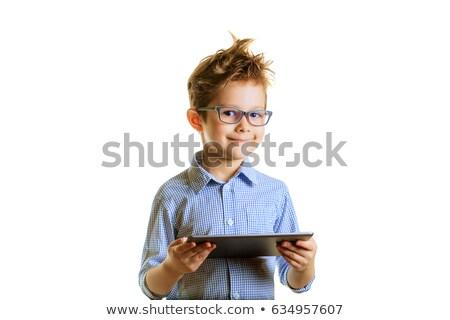 chłopca · za · pomocą · laptopa · biały · komputera · szkoły · student - zdjęcia stock © wavebreak_media