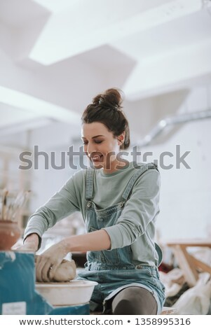 portrait of cheerful craftswoman Stock photo © photography33