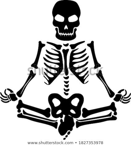 瞑想 スケルトン 3dのレンダリング 瞑想 特別 中古 ストックフォト © AlienCat