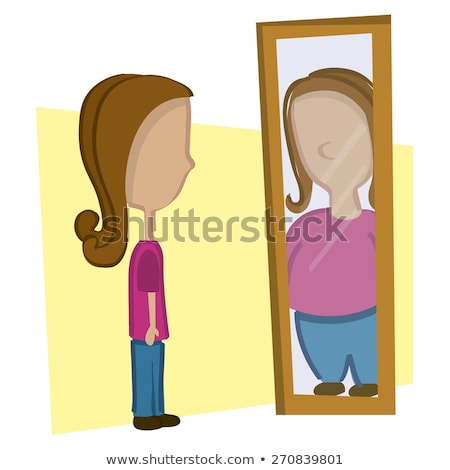 Anorexia - Distorted Body Image Stock photo © AlienCat