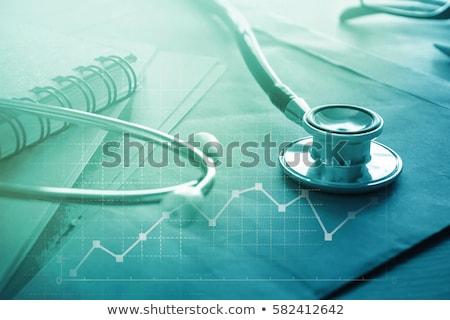 Gezondheidszorg beheer medische symbool arts stethoscoop Stockfoto © Lightsource