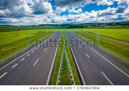 Boş dört karayolu sokak seyahat Stok fotoğraf © eldadcarin