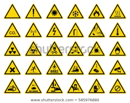 Warning sign caution fire and flammable Stock photo © Ustofre9
