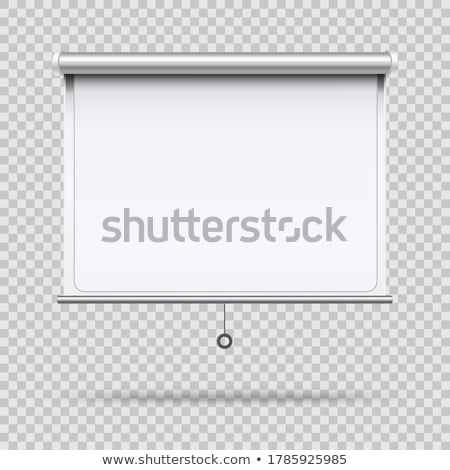 Projector screen isolated on white background. Stock photo © shutswis