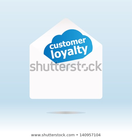 Client fidélité mot bleu nuage enveloppe Photo stock © fotoscool