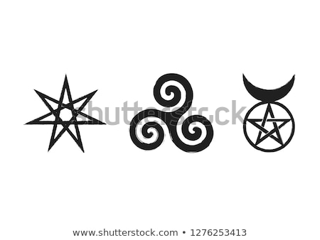 Celtic Neopaganism triple spiral triskelion Stock photo © shawlinmohd