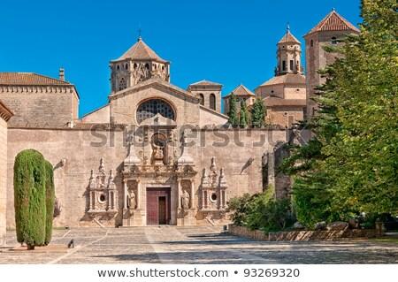 ストックフォト: 修道院 · サンタクロース · スペイン · 空 · 森林 · 風景