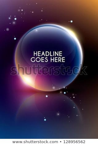round background of precious stones and shining stars Stock photo © yurkina
