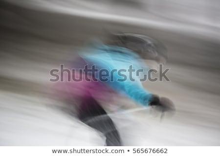 運動 ぼやけた 画像 専門家 スキーヤー 旅行 ストックフォト © DonLand