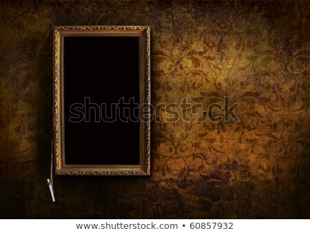 Old menu board with grungy floral background Stock photo © Sandralise