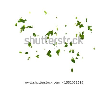 свежие петрушка кухне ножом древесины зеленый Сток-фото © luminastock