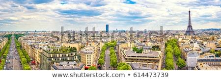 paris skyline Stock photo © compuinfoto