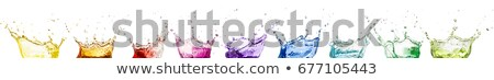 Splash of purple fluid with droplets and water crown Stock photo © Arsgera