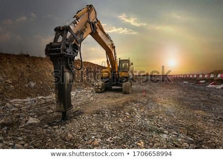 Nagy kotrógép Föld mozog felszerlés áll Stock fotó © hd_premium_shots