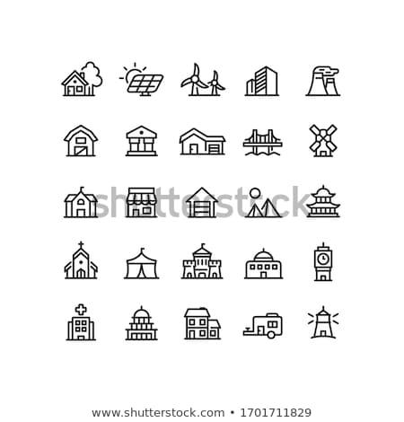 Lakóövezeti ház világítótorony víz természet tájkép Stock fotó © zzve
