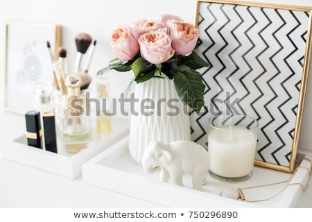 Hölgy hálószoba szexuális barna hajú alsónemű nő Stock fotó © ssuaphoto