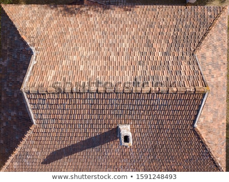 The roof with tiles in a sunny day Stock photo © Discovod