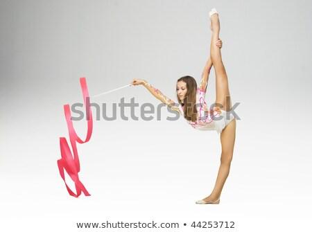 Ritmik jimnastik kadın bürokrasi uygun genç kadın Stok fotoğraf © Aikon