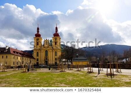 паломничество базилика старые барокко храма Чешская республика Сток-фото © oxygen64