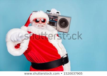 Feliz natal papai noel funk bem-vindo gesto Foto stock © HASLOO