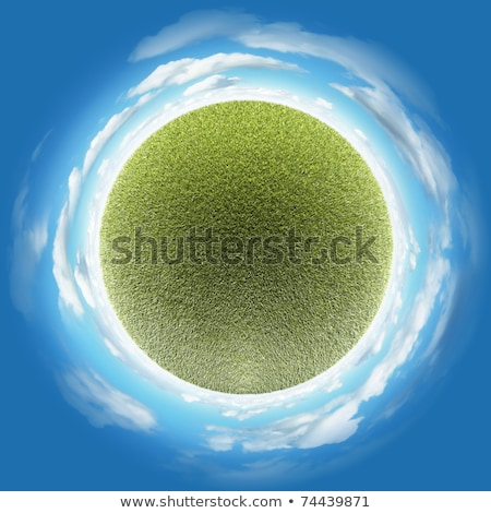 Little planet with clear thick grass lawn Stock photo © Kirill_M