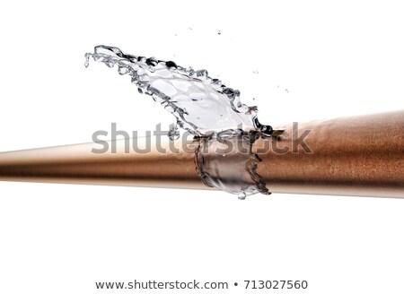 孤立した · 壊れた · 配管 · バルブ · パイプ · 白 - ストックフォト © pancaketom