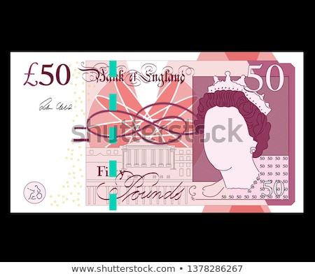 Pond nota bankbiljet valuta Verenigd Koninkrijk geld Stockfoto © claudiodivizia