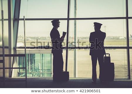 uçuş · şapka · kız · adam · çocuk · seyahat - stok fotoğraf © andreypopov