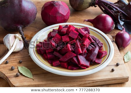 Sliced red beet on plate  Stock photo © bdspn