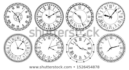 pared · reloj · vector · icono · fondo · blanco - foto stock © mizar_21984
