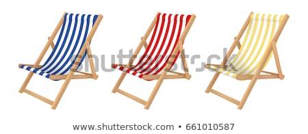 Deck sedia isolato bianco sfondo comfort Foto d'archivio © kitch