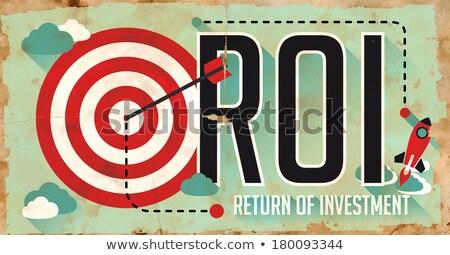 ストックフォト: Roi · ポスター · デザイン · 古い紙 · 長い · 影