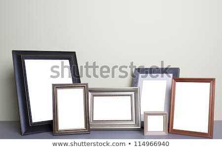 photo frame over wooden texture Stock photo © burakowski