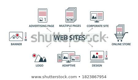 набор · вектора · дизайна · иллюстрация · веб-иконы · Логотипы - Сток-фото © brainpencil