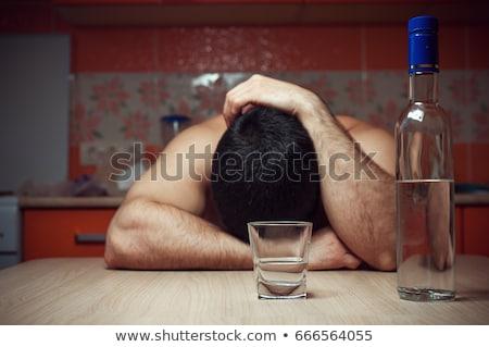 Genç alkol taciz kısa sarışın saç Stok fotoğraf © runzelkorn