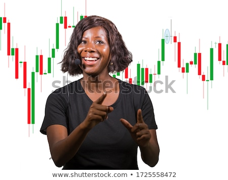 Beautiful speculative African American woman Stock photo © dash