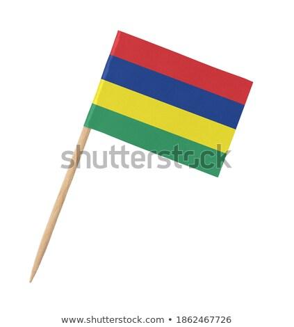 миниатюрный флаг Маврикий изолированный бизнеса Сток-фото © bosphorus