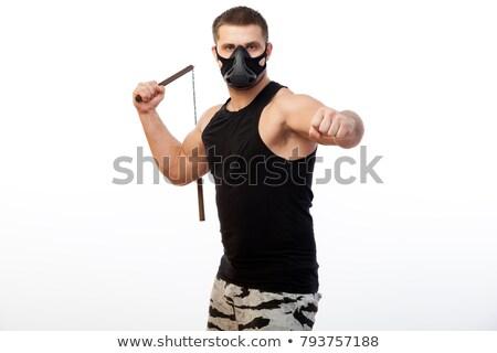 vechtsporten · wapen · geïsoleerd · witte · hand · man - stockfoto © michaklootwijk