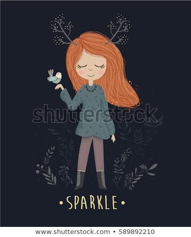 Сток-фото: девочку · магия · лес · подвесной · текстуры · трава