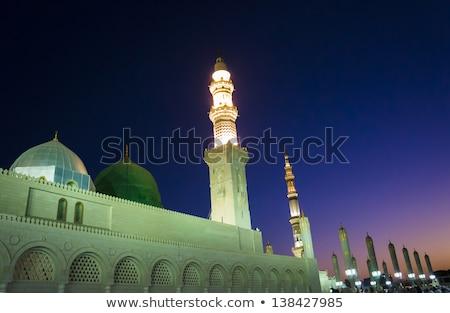 Ombrello pilastro decorazione costruzione blu urbana Foto d'archivio © azamshah72
