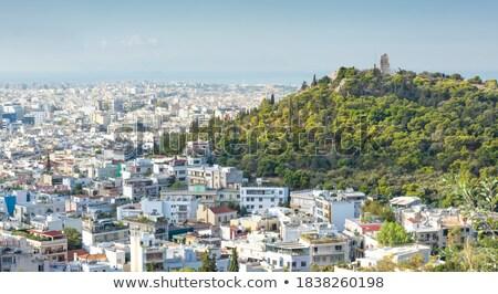 Colina ver Atenas Grécia antigo trilha Foto stock © sirylok