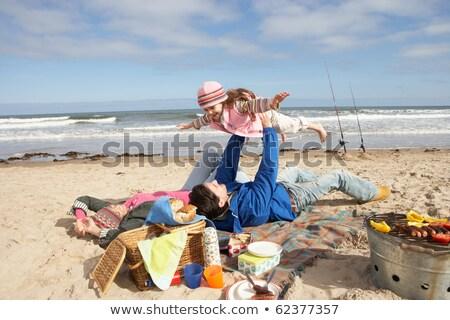 少女 · 冬 · 休暇 · 子 · 楽しい - ストックフォト © monkey_business