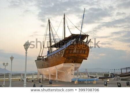 Оман изображение ручной работы судно пляж небе Сток-фото © w20er