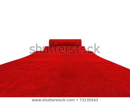 kırmızı · halı · görüntü · 3D · yalıtılmış · beyaz · iş - stok fotoğraf © tiero