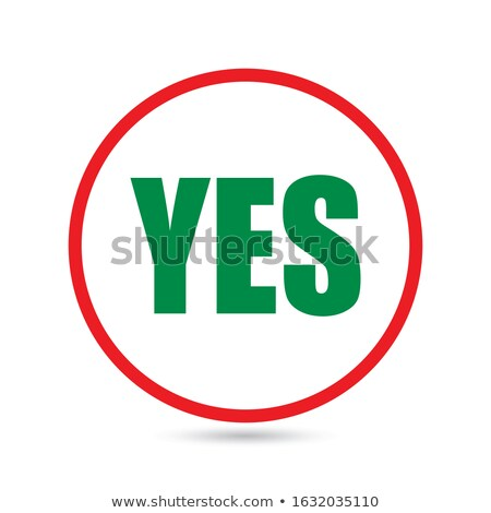 Approve Word Green Button Acceptance Positive Response Stock photo © iqoncept