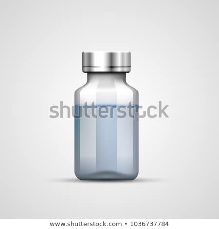 küçük · şişe · şırınga · tıbbi · mavi · cam · sağlık - stok fotoğraf © oleksandro