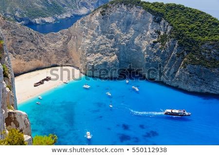 ビーチ ギリシャ 風景 海 背景 ストックフォト © haraldmuc