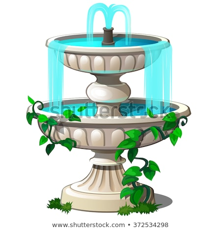 vintage fountain in the park stock photo © nalinratphi